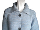 Raglan cardigan collar ice