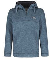 1/4 Zip textured soft knit fleece hoody